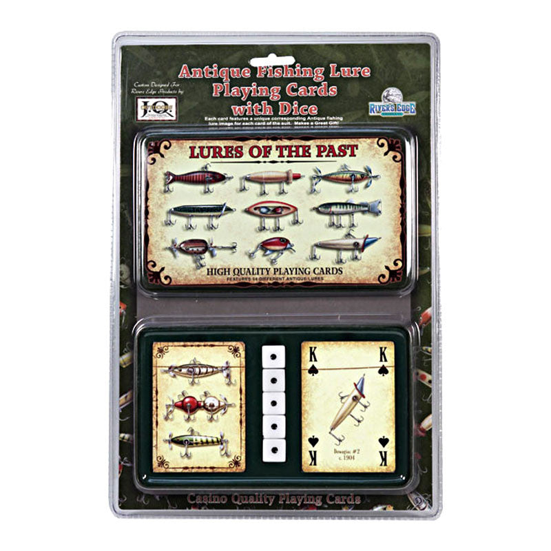 Fishing Lures Playing Cards & Dice Gift Tin 1572