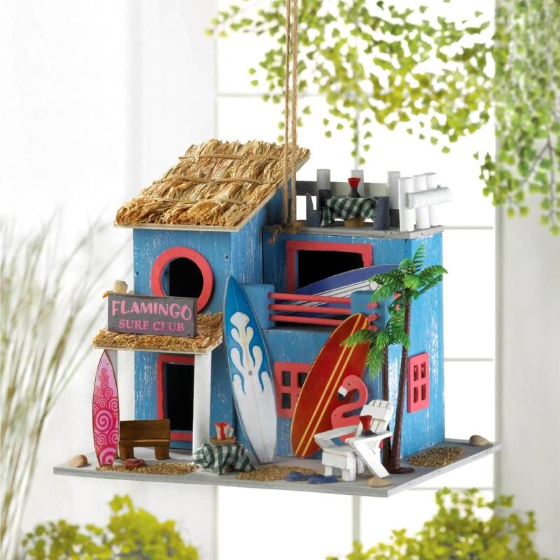 Flamingo Surf Club Birdhouse 10019004