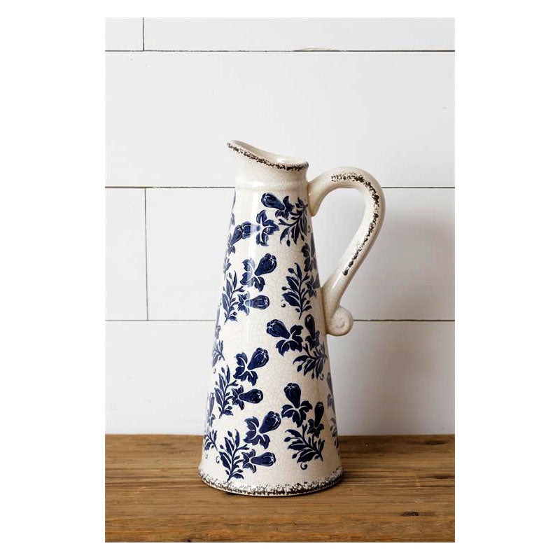French Pattern Blue Large Pitcher 8PT1288