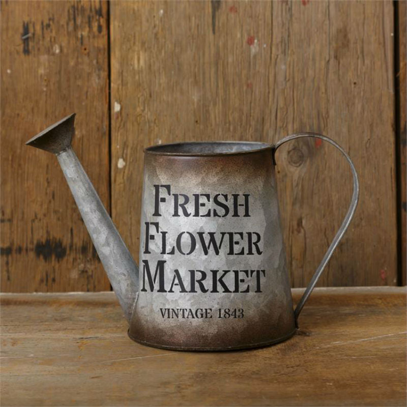 Fresh Flower Market Tin Watering Can 8T9957
