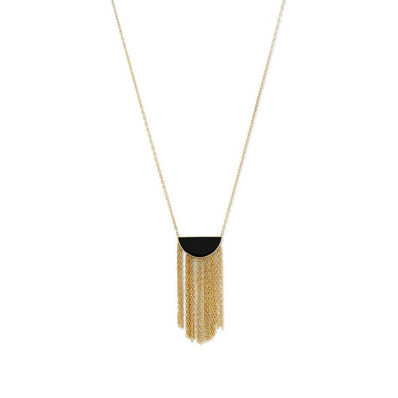 Fringed Black Onyx Necklace 34190