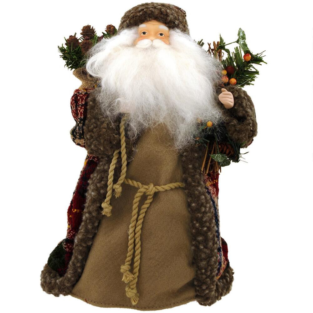 Fur Coat Santa Tree Topper 1139760