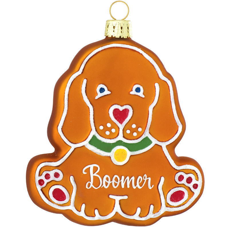 Gingerbread Dog Glass Ornament 1180380