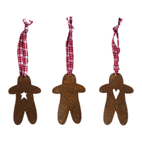 Gingerbread Men Rustic Ornaments