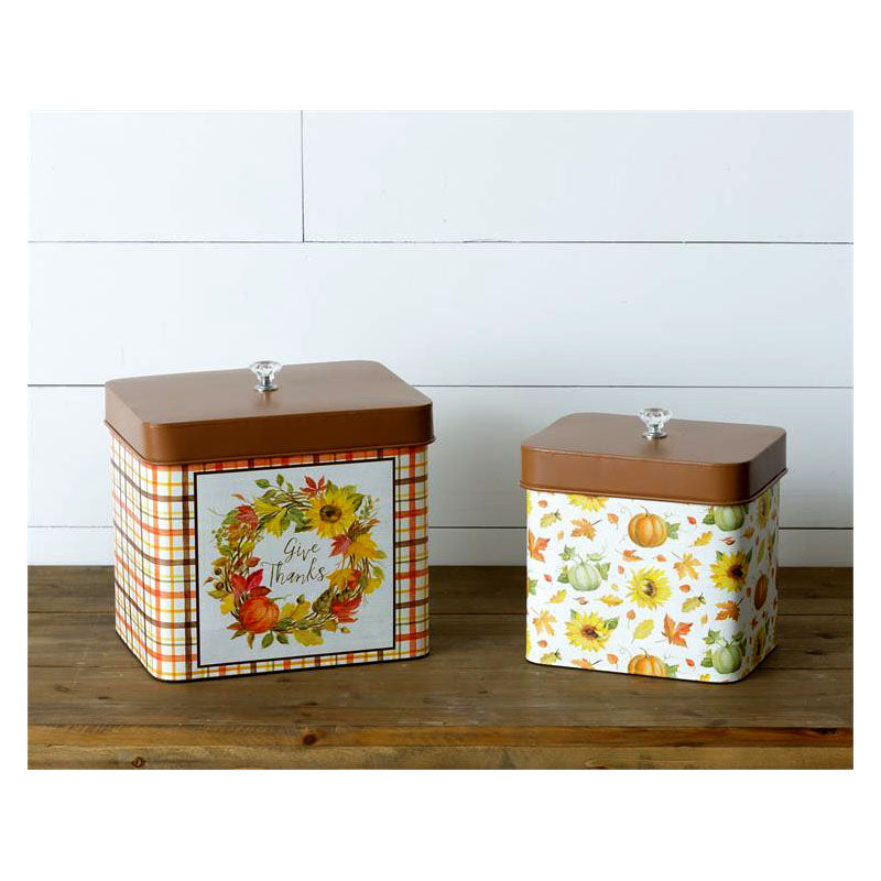 Give Thanks Tin Kitchen Canisters 6T1893