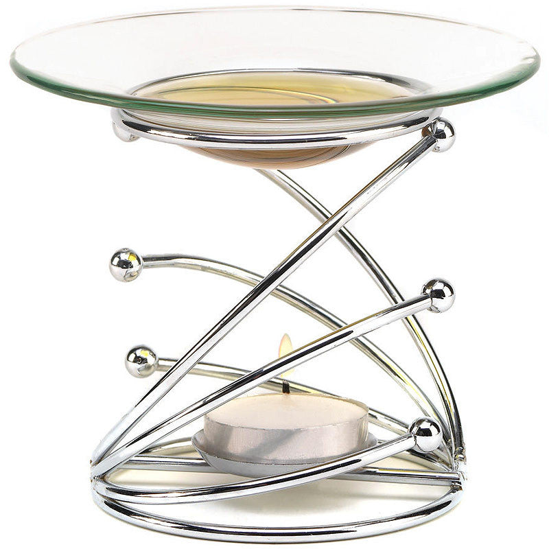 Contemporary Glass & Metal Oil Burner 13895