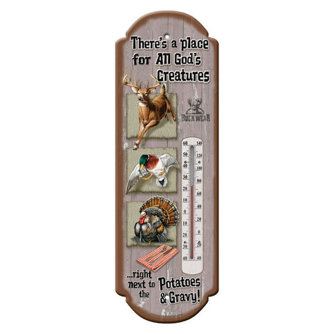 Gods Creatures Tin Thermometer