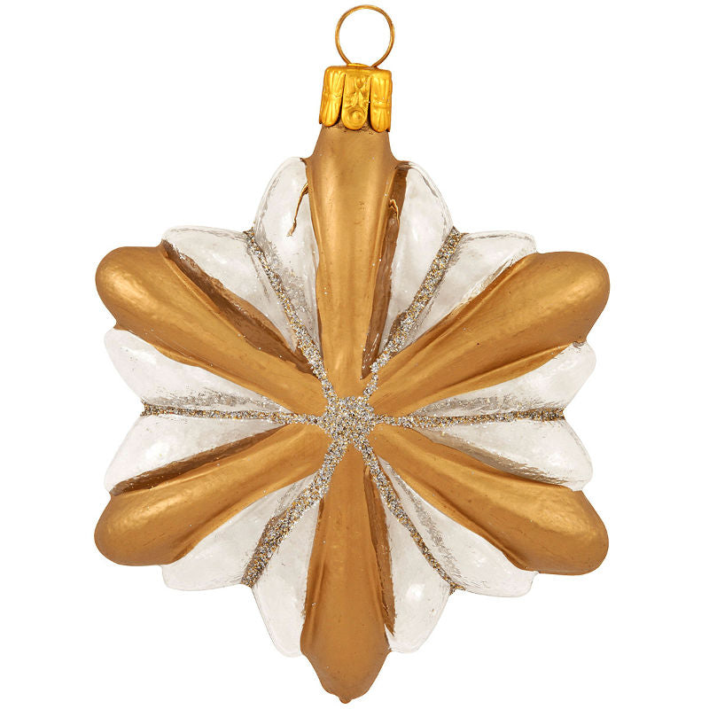 Gold and Silver Glass Star Ornament 1193549
