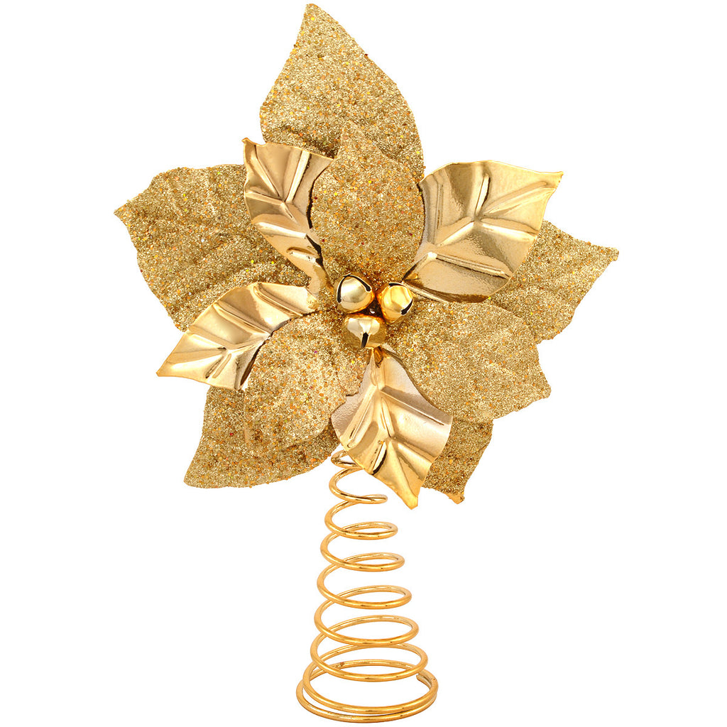 Golden Poinsettia Tree Topper 1175947