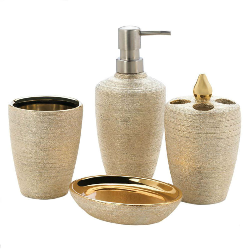 Golden Shimmer Bath Accessory Set 10018331