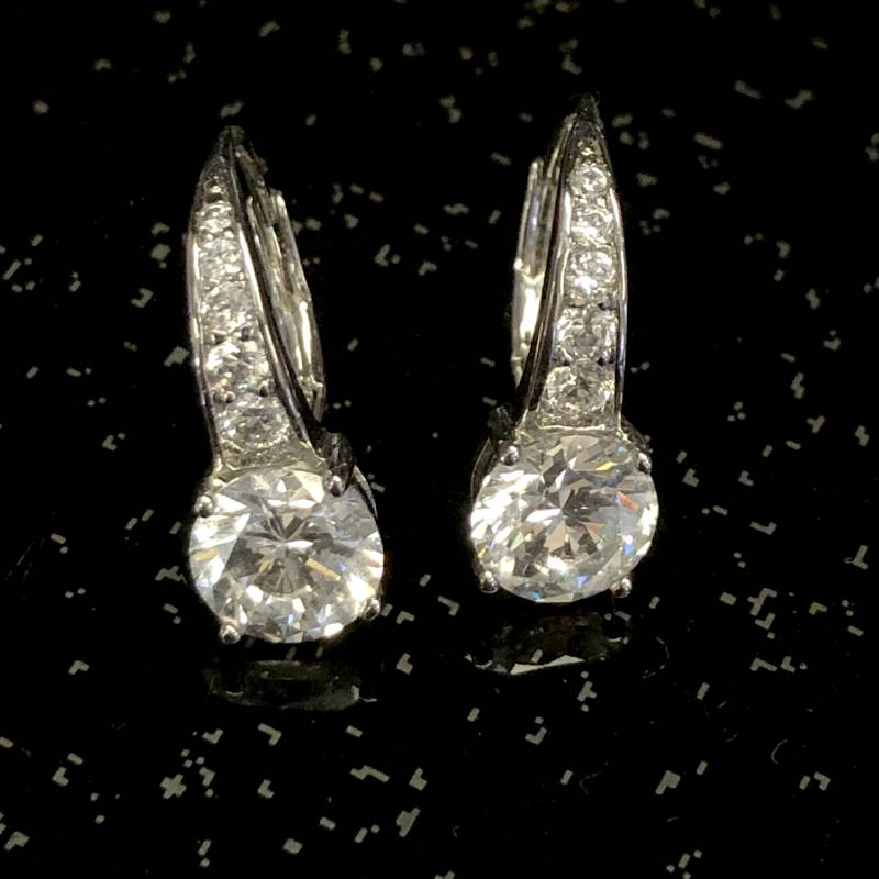 Graduated Cubic Zirconia Earrings 64188