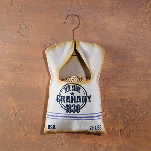 Grain Sack Clothespin Bag