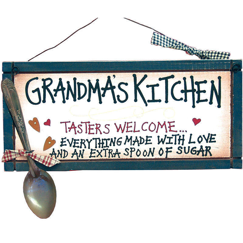 Grandma's Kitchen Tasters Welcome Plaque 22911