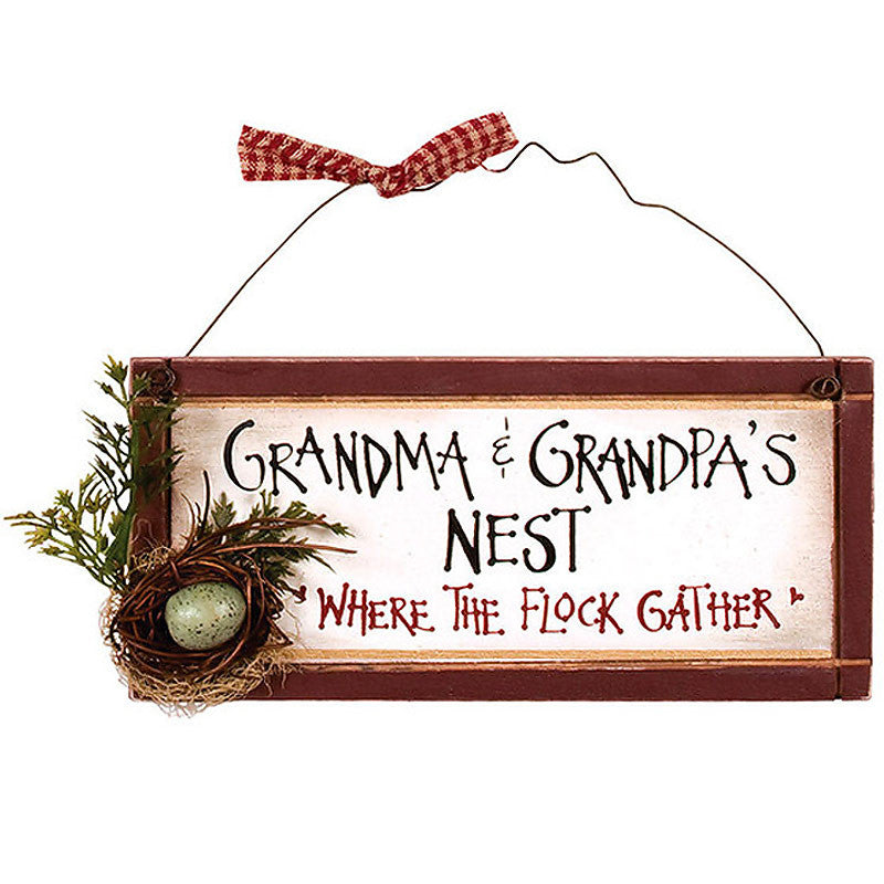 Grandma & Grandpa's Nest. Where the Flock Gather 32211