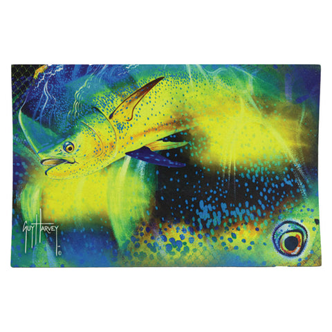 Guy Harvey Dorado Mahi Fishing Door Mat