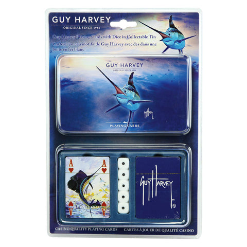 Guy Harvey Fishing Playing Cards with Collectors Tin