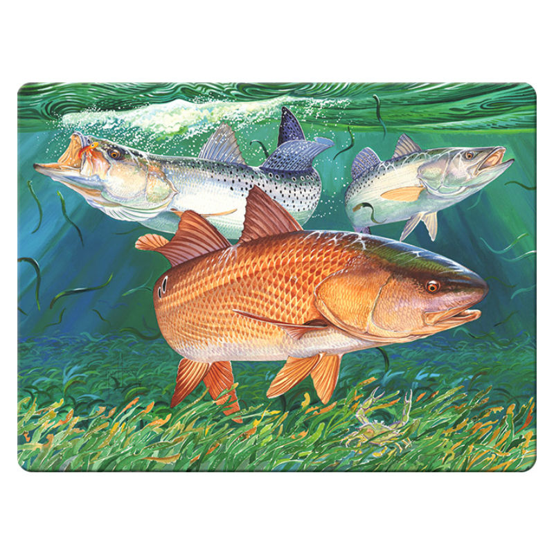 Guy Harvey Redfish Trout Cutting Board 1224