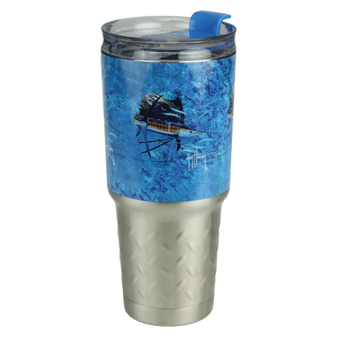 Guy Harvey Sailfish 32 Oz Stainless Steel Tumbler