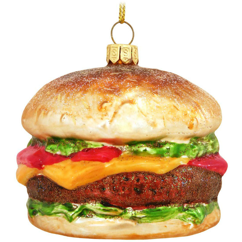 Hamburger Glass Ornament 1153860