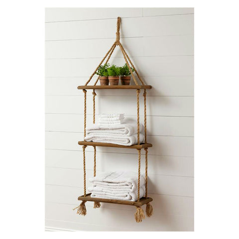Hanging Rope Shelf