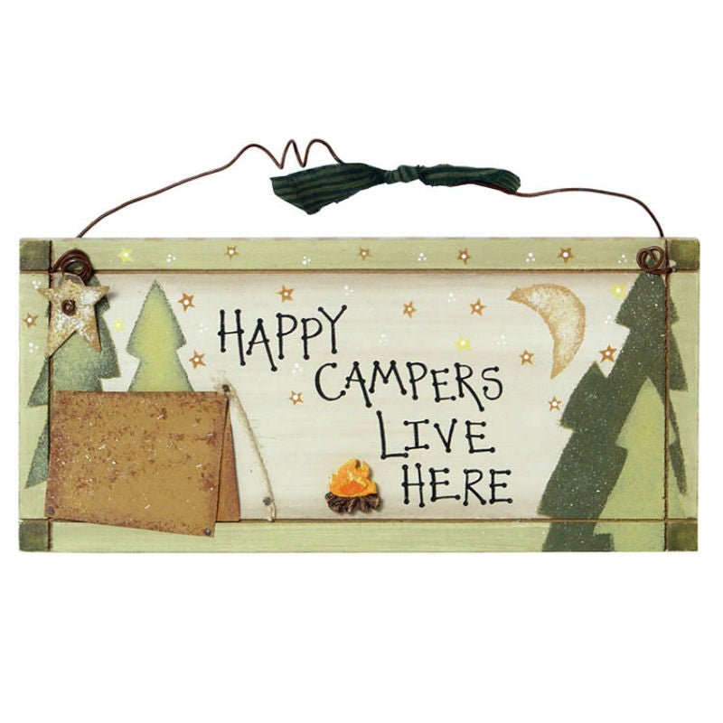 Happy Campers Live Here Sign 25471