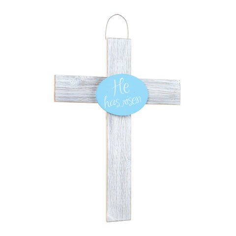 He Is Risen Wooden Easter Cross