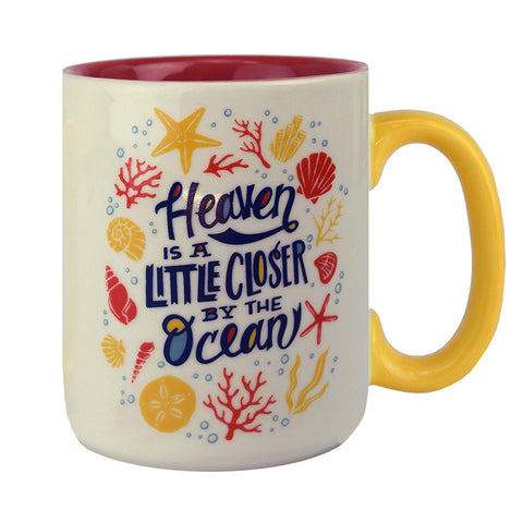 Heaven Is A Little Closer By The Ocean Ceramic Beverage Mug