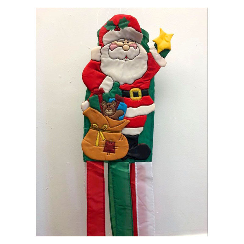 Holly Jolly Santa Christmas Wind Sock 1419910F