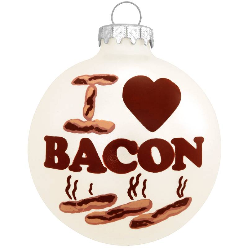 I Love Bacon Glass Ornament 1160632