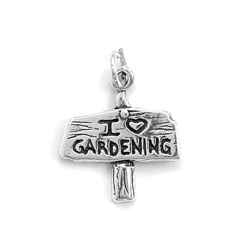 I Love Gardening Sign Charm Pendant 73013