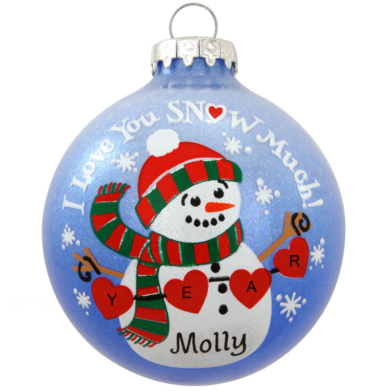 I Love You Snow Much Glass Ornament 1181297