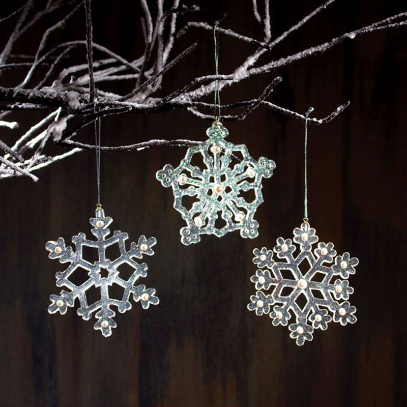 Icy Snowflake Christmas Ornaments X45543