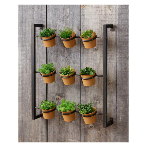 Industrial Wall Mounted Herb Planter