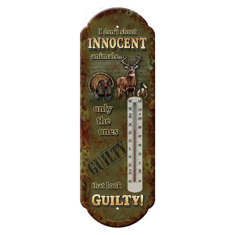 Innocent Animals Tin Thermometer 1329