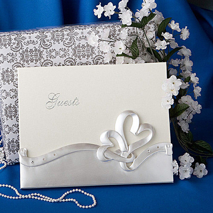 Interlocking Hearts Wedding Day Guest Book 2402