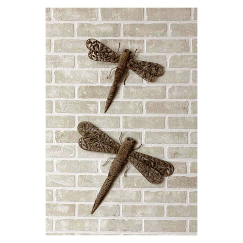 Iron Dragonfly Garden Decor