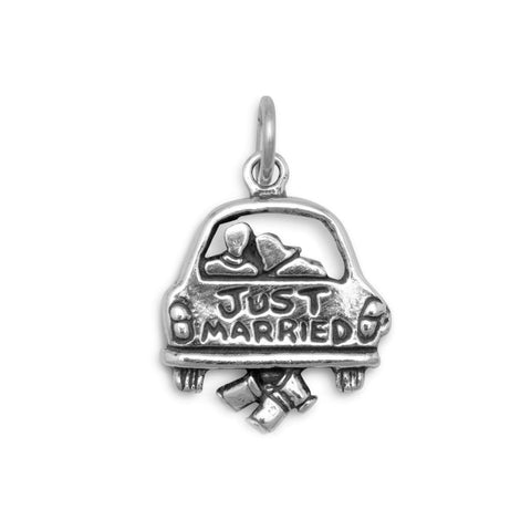 Just Married Charm Pendant