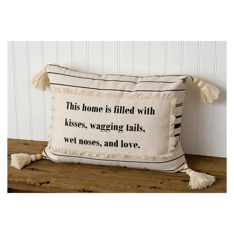 Kisses & Wagging Tails Dog Throw Pillow