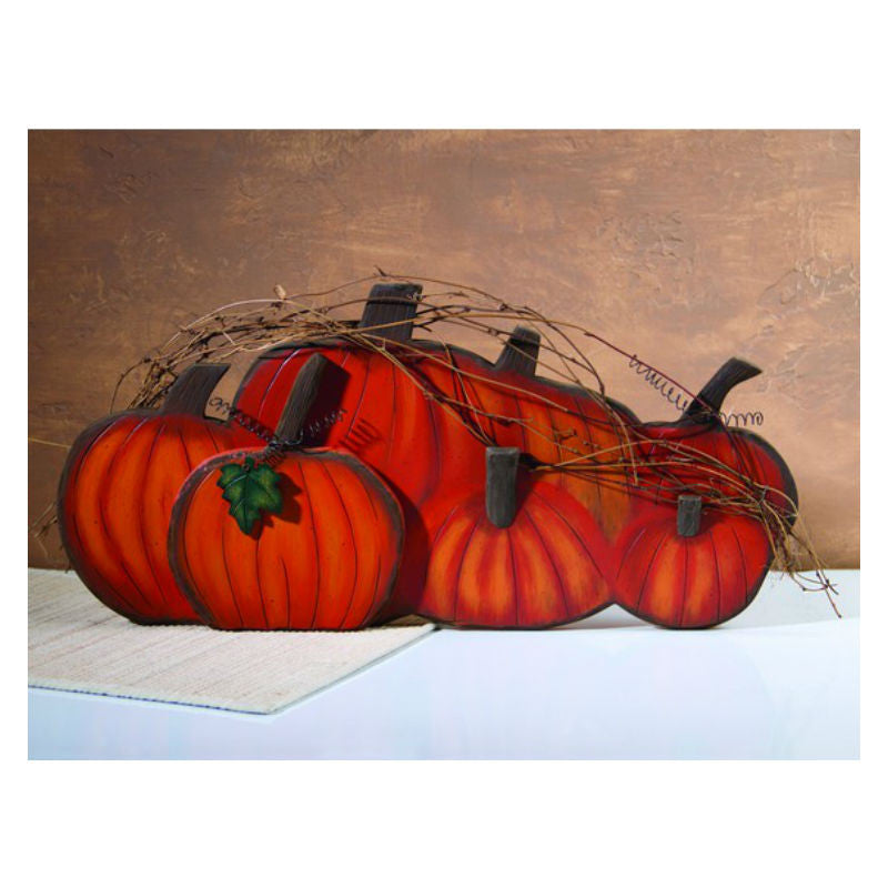 Large Pumpkin Row Fall Wall Decor 37386