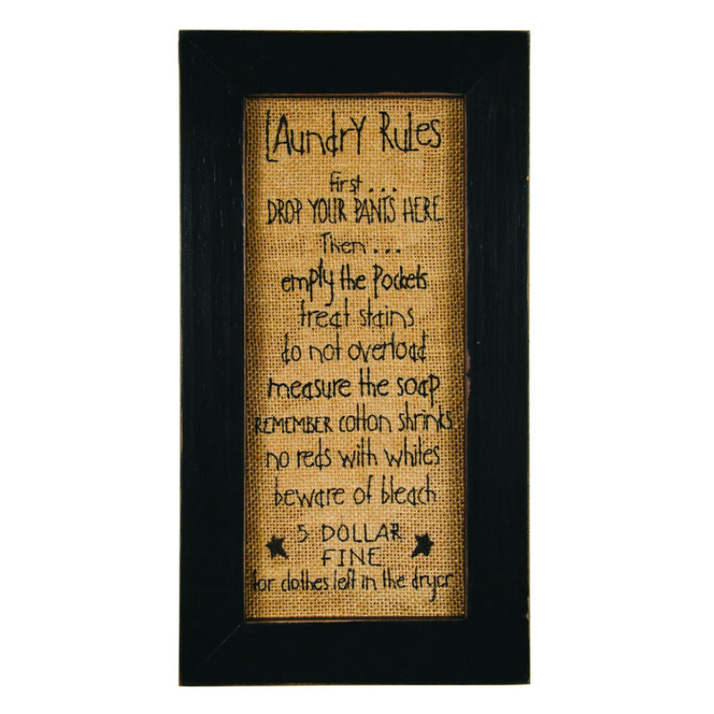 Laundry Room Rules Stitchery 39684