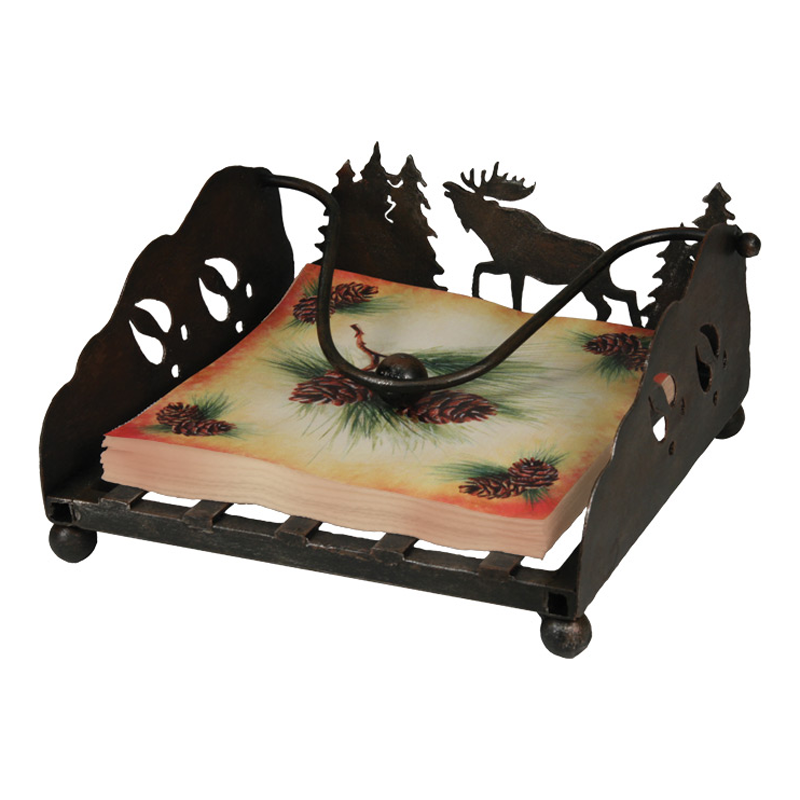 Lazer Cut Moose Napkin Holder 1654