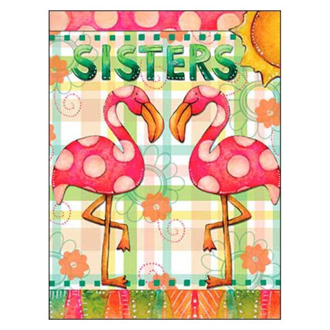 Leanin' Tree Flamingo Sisters Birthday Card