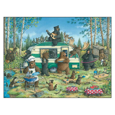 Leanin' Tree Happy Campers Birthday Card