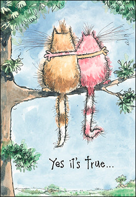 Leanin' Tree I Like Hanging Out With You Kitties Friendship Card 55326
