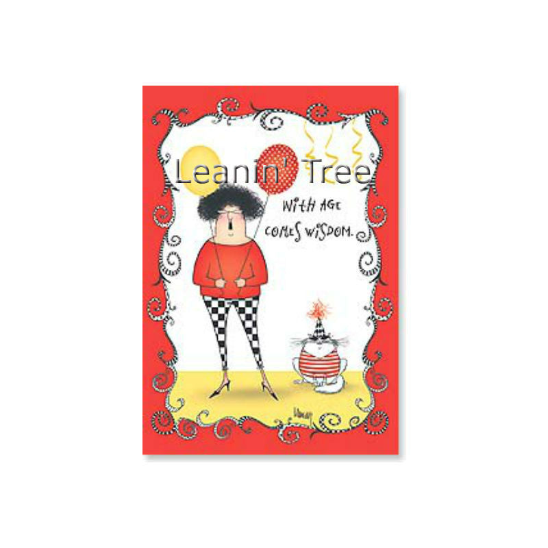 Leanin' Tree I'd Rather Have Cute Buns Birthday Card 48744