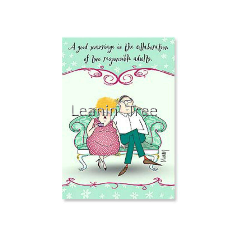 Leanin' Tree You Two Have Succeeded Anyway Anniversary Card 48520