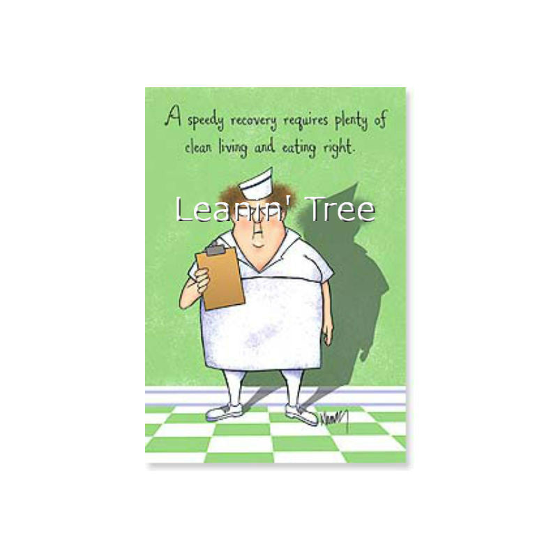 Leanin' Tree You're Doomed Get Well Card 21856