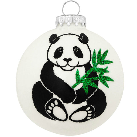 Legend of the Panda Glass Ornament