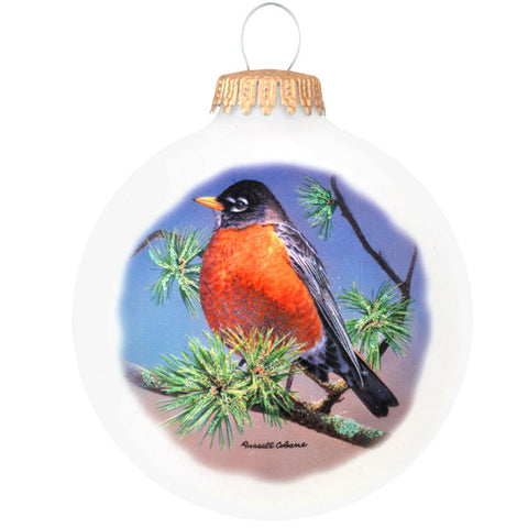 Legend Of The Robin Glass Bird Ornament