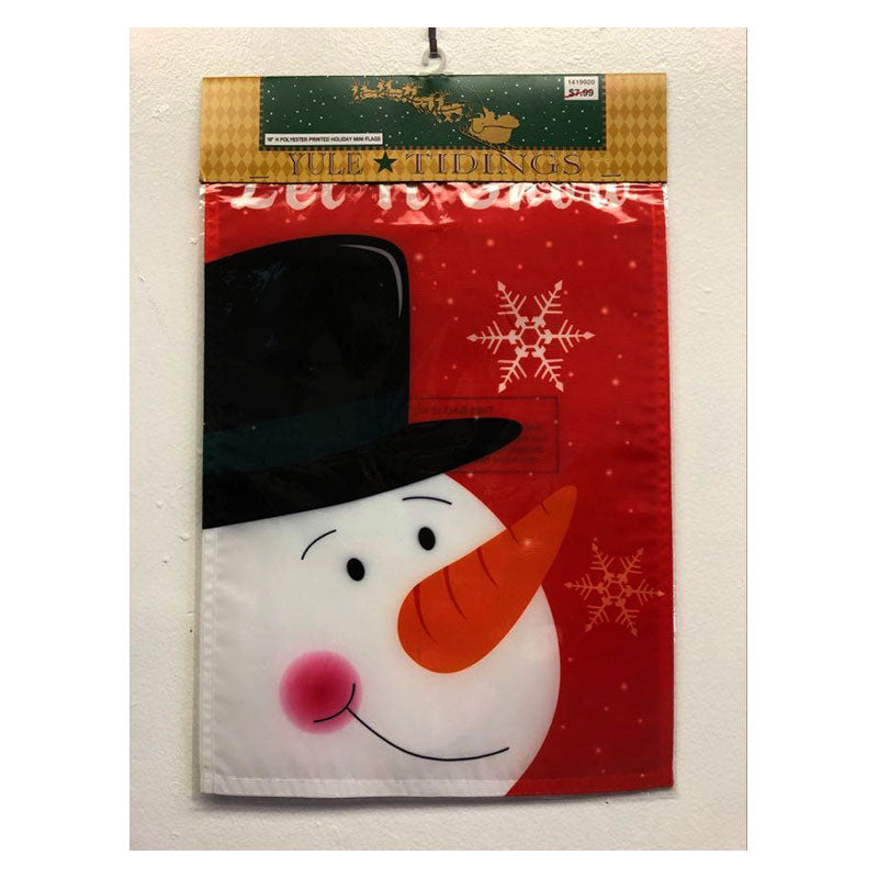 Let It Snow Mini Holiday Garden Flag 1419920A